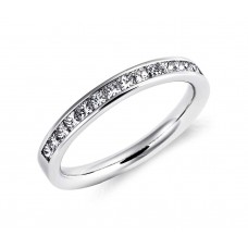 Channel Set Princess Cut Diamond Ringin Platinum