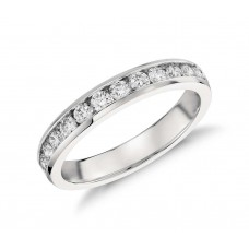 Channel-Set Diamond Ringin Platinum
