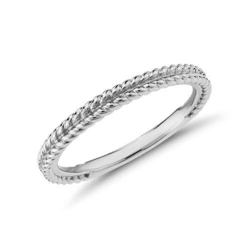 Braided Wedding Bandin Platinum