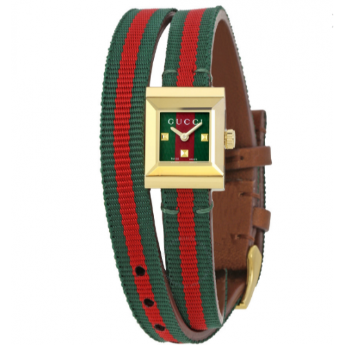 G-Frame Red and Green Dial Ladies Watch YA 128527