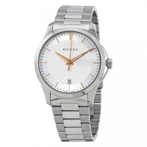 G-Timeless Silver Dial Stainless Steel Unisex Watch YA 126442